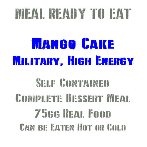 Mango Cake British Military, High Energy, Long Life