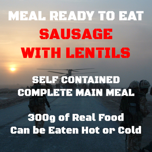 300g Sausage with Lentils MRE Wet Meal