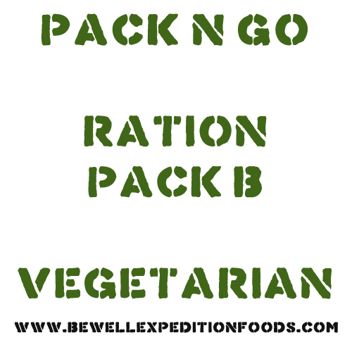 Pack N Go Ration Pack B - Vegetarian