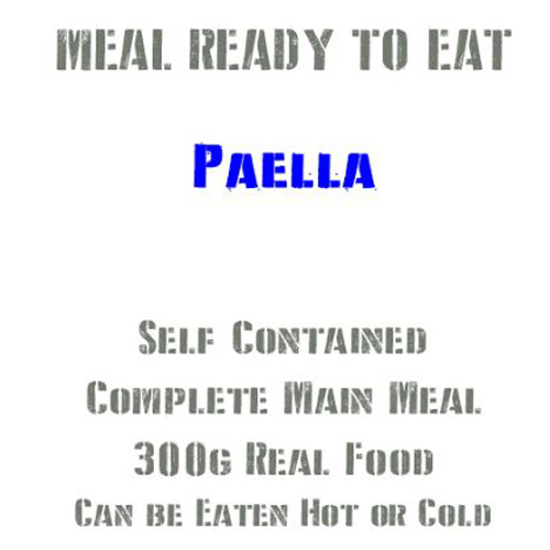 MRE Paella, 300g Ready to Eat Military Meals