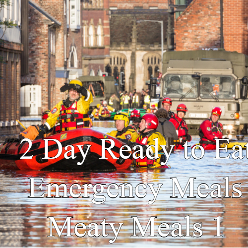 2 Day Ready to Eat Emergency Food Meaty Meals 1