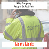 14 Day Ready to Eat  Emergency Food Meaty Pack