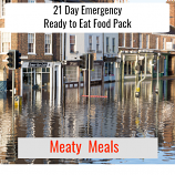 21 Day Ready to Eat Emergency Food Meaty Pack.