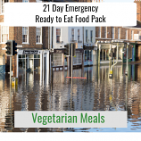 21 Day Ready to Eat Emergency Food Vegetarian Pack.