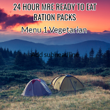 Menu 1 (Vegetarian) -  MRE Ready to Eat 24 hour Pack