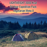 Lightweight Vegetarian 24 Hour  Pack Menu  A