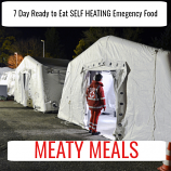 7 Day Ready to Eat SELF HEATING  Emergency Food Meaty Pack