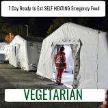 7 Day Ready to Eat  SELF HEATING Emergency Food vegetarian Pack