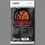 Adventure Nutrition Action Pack, 300g Self Heating Meal  SAUSAGE AND  BEANS IN TOMATO SAUCE