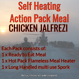Action Hot Pack Self Heating Meal CHICKEN JALFREZI