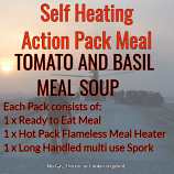 Adventure Nutrition Action Hot Pack Self Heating TOMATO & BASIL MEAL SOUP