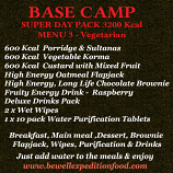 Menu 3 (Vegetarian) - Super Pack 3200 Kcal **