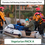 Vegetarian SELF HEATING Pack A Ready to Eat 24 Hour  Big Pack