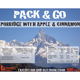 Pack N Go 600 Kcal GLUTEN FREE Porridge with Apple & Cinnamon