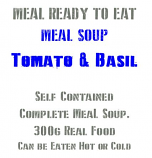 MRE UK Military 300g Ready to Eat  Meal soup, Tomato & Basil x 2