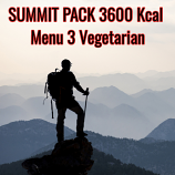Menu 3  ( Vegetarian ) - Summit 3600 Kcal Pack