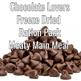 Chocolate Lovers Freeze Dried 24 Hour Ration Pack   MEATY
