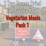 2 Day Freeze Dried Emergency Food Vegetarian 1