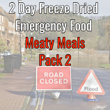 2 Day Freeze Dried Emergency Food Meaty Meals 2