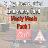 2 Day Freeze Dried Emergency Food Meaty Meals 1