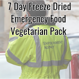7 Day Freeze Dried Emergency Food Vegetarian Pack