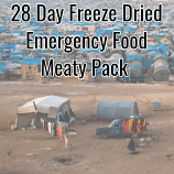 28 Day Freeze Dried Emergency Food Meaty Pack