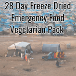 28 Day Freeze Dried Emergency Food Vegetarian Pack