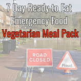 7 Day Ready to Eat  Emergency Food vegetarian Pack