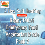 2 Day Self Heating Ready to Eat Emergency Food Vegetarian Meals 2
