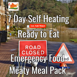 7 Day Self Heating Ready to Eat Emergency Food Meaty Pack.