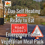 7 Day Self Heating Ready to Eat Emergency Food Vegetarian Pack.
