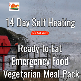 14 Day Self Heating Ready to Eat Emergency Food Vegetarian Pack.