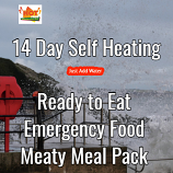 14 Day Self Heating Ready to Eat Emergency Food Meaty Pack.